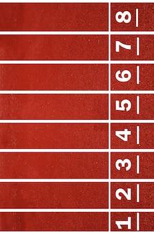 Número de pista, pista y carrera