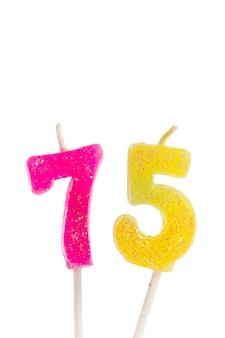 Número de velas de cumpleaños