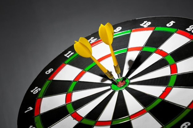 Objetivo de éxito, concepto de logro del objetivo objetivo