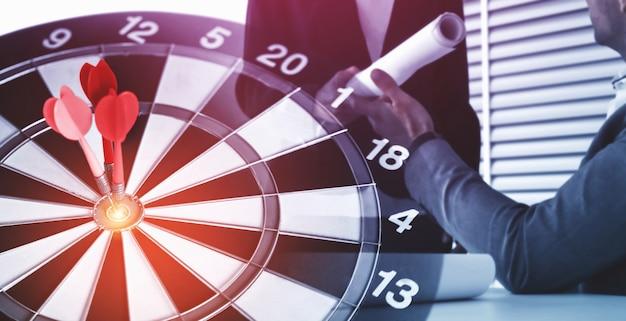 Objetivo de negocio objetivo para el concepto de estrategia de éxito