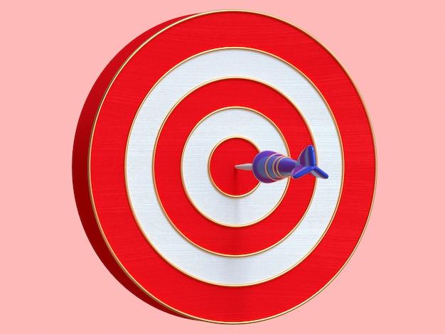 Objetivo de representación 3d y estilo de dibujos animados de flecha