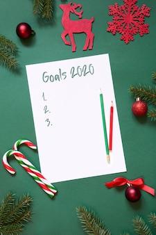 Objetivos de año nuevo 2020, planificación, actividades de adviento, carta a santa, tu lista de deseos