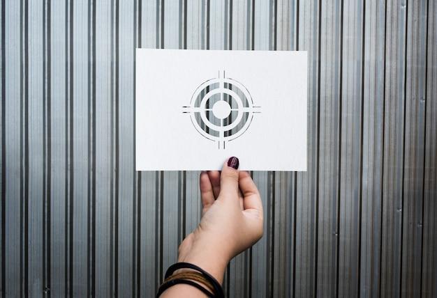 Objetivos objetivo aspiración papel perforado diana
