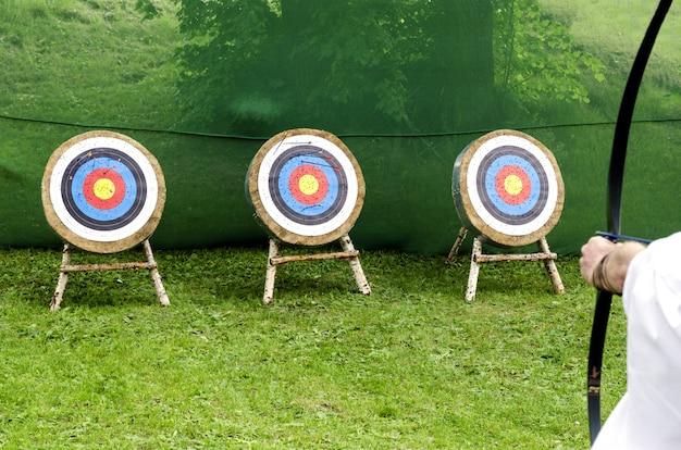 Objetivos de tiro con arco.