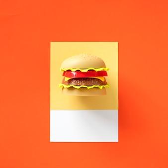 Objeto de juguete de comida rápida de hamburguesa