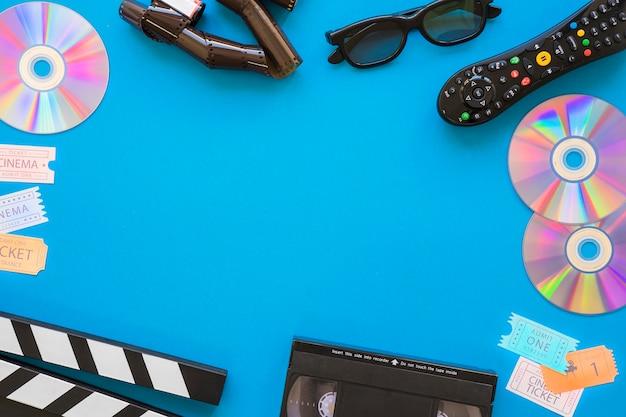 Objetos de película con espacio en medio