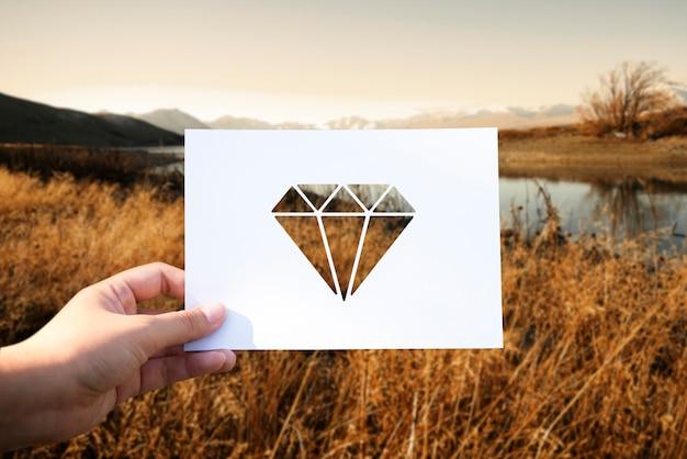 Objetos de valor perforado diamante de papel