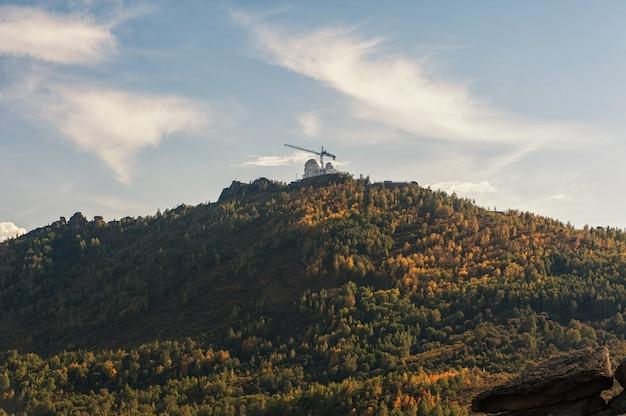 Observatorio en la montaña.
