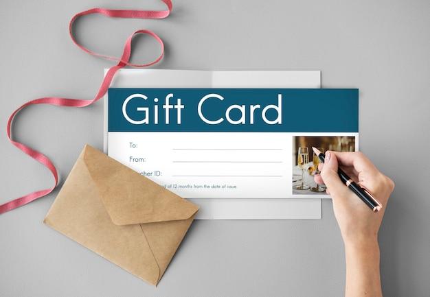 Oferta especial de descuento de cupón de cupón de regalo