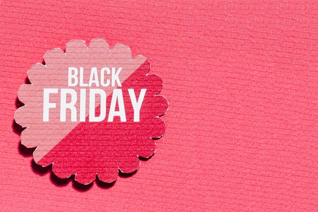 Oferta pink black friday en flor de papel