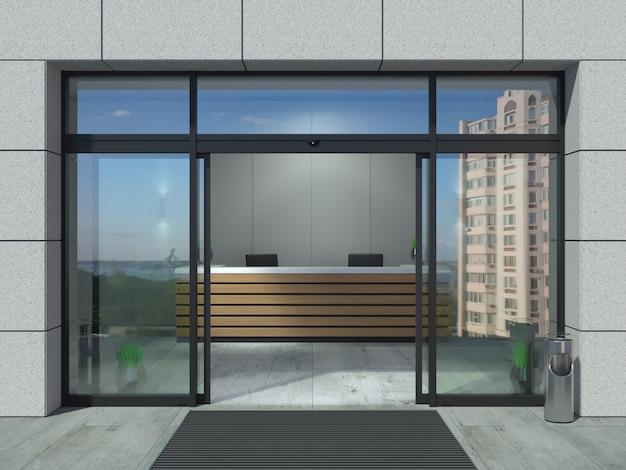 Oficina automática de puertas abiertas correderas