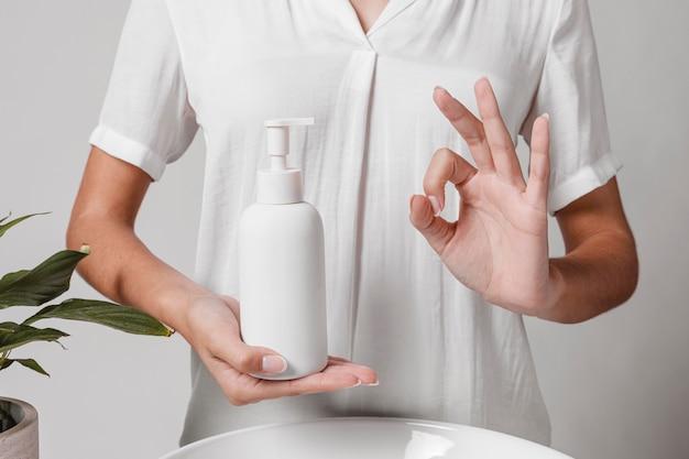 Ok símbolo de agua y jabón