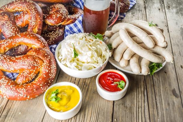 Oktoberfest comida y cerveza