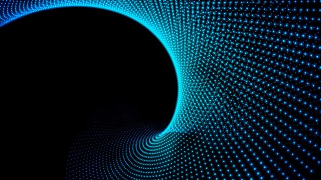 Ola de partículas. fondo abstracto