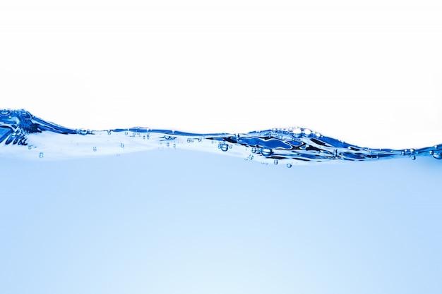 Ondas de agua y burbujas azules claras para el agua potable.