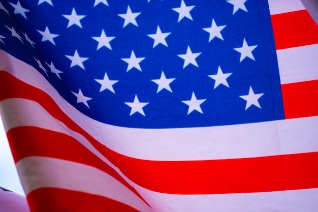 Ondulado de la bandera de los estados unidos de américa