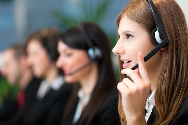 Operadores de centros de llamadas