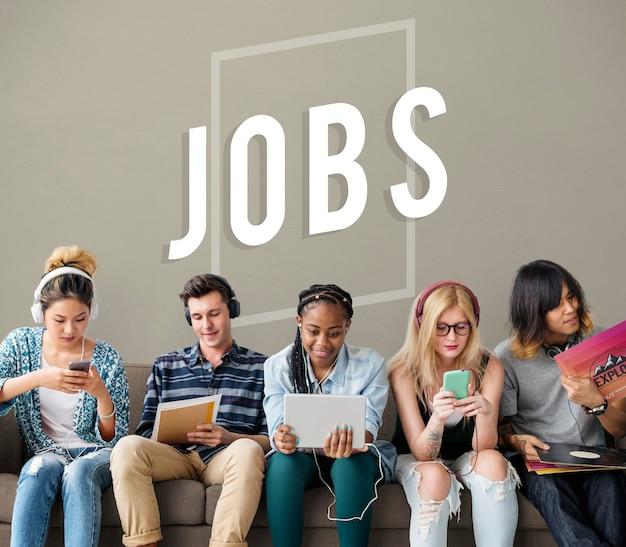 Oportunidad de empleo contratación icono de trabajos