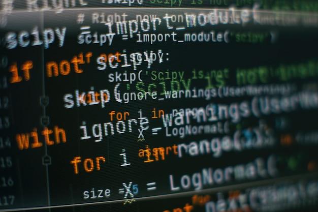 Optimización seo. tecnología moderna. se resalta la sintaxis de php. escribir funciones de programación en una computadora portátil. tendencia de big data e internet de las cosas.