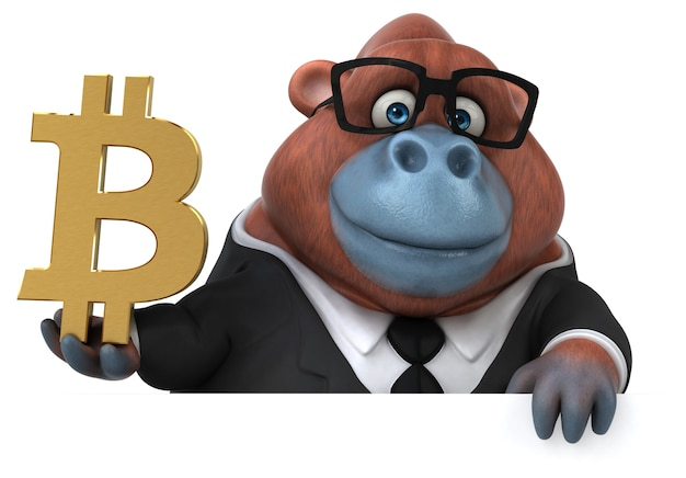 Orangután divertido - ilustración 3d