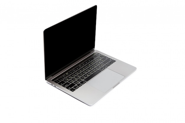 Ordenador portátil moderno aislado en blanco