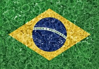 Orgánico del grunge bandera brasil
