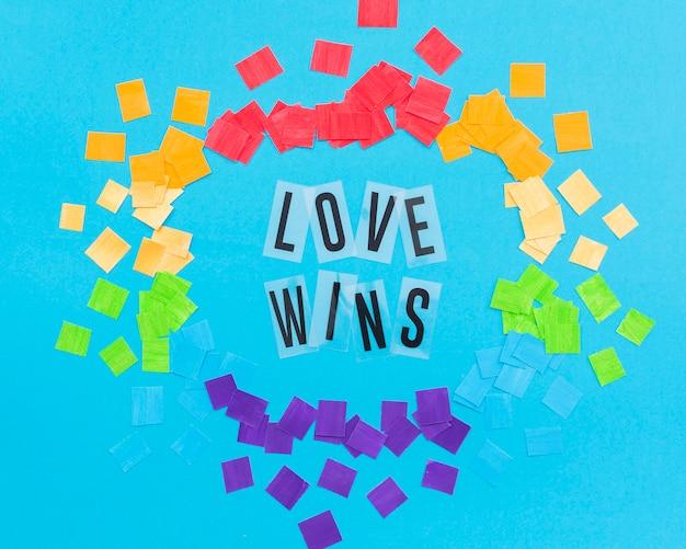 El orgullo gay concepto amor gana