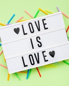 Orgullo lgbt día de la sociedad el amor es amor