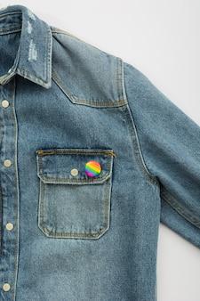 Orgullo lgbt sociedad día chaqueta botón