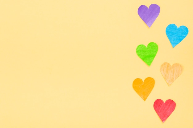 Orgullo lgbt sociedad día corazones