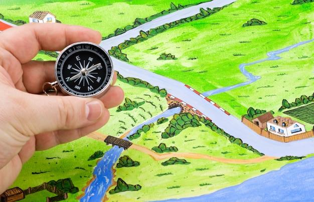 Orientación del mapa en el viaje.