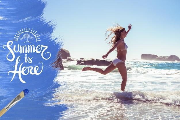 Orilla del arte de la playa creatividad árbol