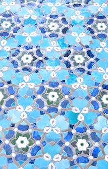 Ornamento azul de mezquita islámica