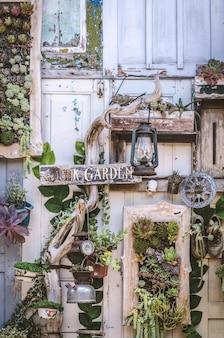 Ornamento vegetal rama de hueso zapatos de radio firmar retro decoración vintage antigua
