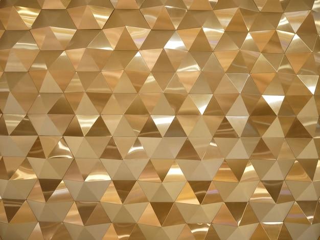 Oro triángulos poli baja y polígonos geométricos resumen de antecedentes.