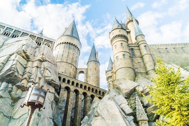 Osaka, japón - 1 de diciembre de 2015: colegio hogwarts de magia