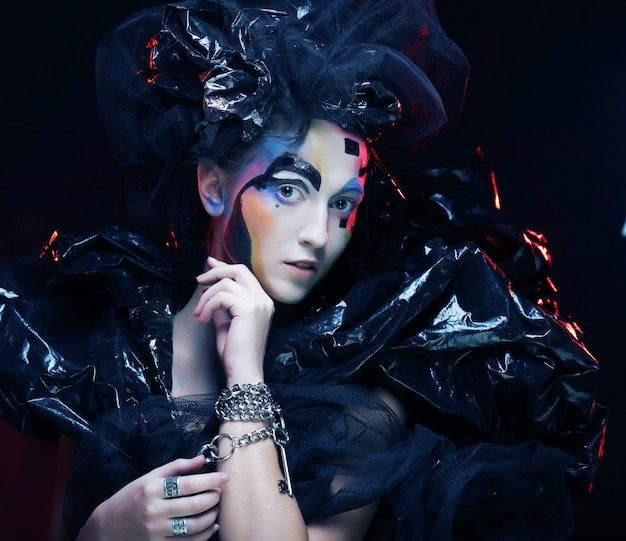 Oscura hermosa princesa gótica,