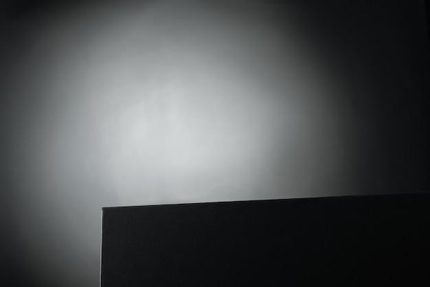 Oscuro. maqueta para la presentación del producto.