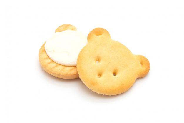 Oso galletas con crema