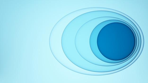 Óvalo azul con círculo azul para el fondo de arte