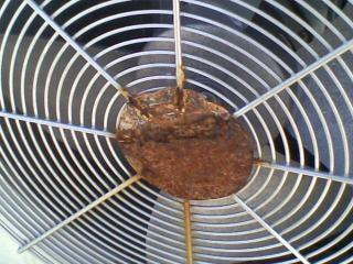 Oxidado ventilador de aire acondicionado