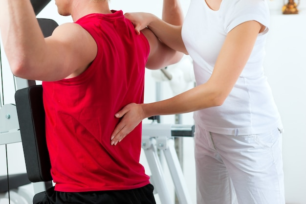 Paciente en fisioterapia