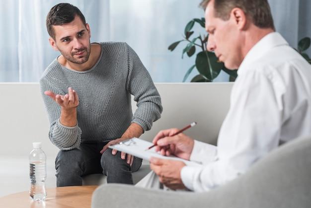 Paciente hablando