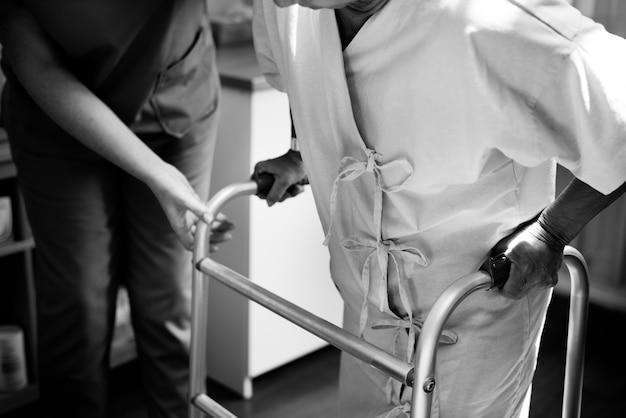 Un paciente en un hospital