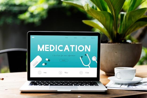 Paciente con receta de farmacéutico de medicamentos de medicamentos