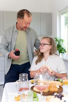 Padre e hija, pasar tiempo de calidad juntos