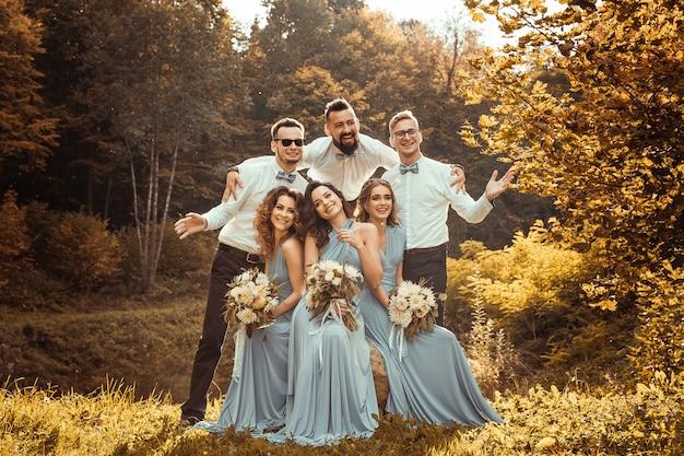 Padrinos de boda y damas de honor