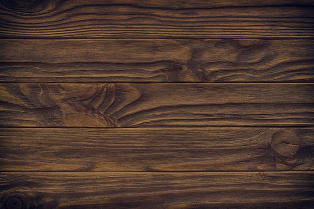 Página completa de textura de tablero de piso de madera envejecida y manchada oscura