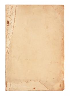 Páginas de libros antiguos aislados en blanco
