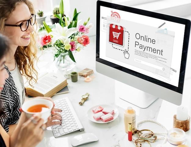 Pago en línea compra comercio electrónico icono de compra